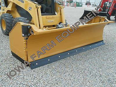 Horst 3200 Skidsteer QA Snow Wing,Snow Pusher,9'Closed-14'Open: STEEL TRIP EDGE!