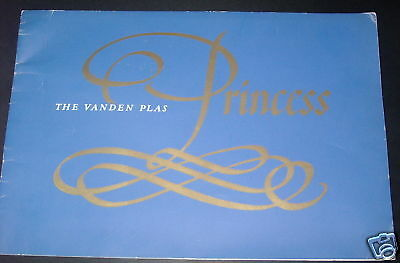 Catalogue auto VANDEN PLAS princess 1923