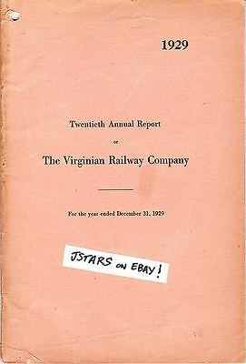 1929 - 1940 Virginian Railway Company Annual Reports, N&w, Norfolk, Va