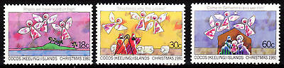 1981 Cocos Islands Christmas - MUH Complete Set