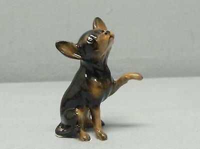 Hagen Renaker Black Chihuahua W/ Paw Up