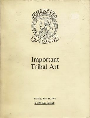 CHRISTIE'S Tribal African Oceanic America Indian Eskimo Auction Catalog 1978