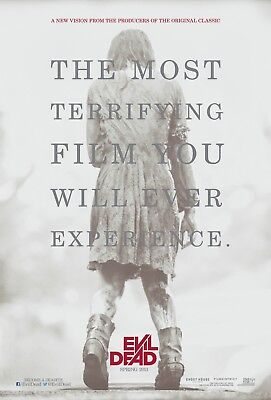 "EVIL DEAD 2013 Advance Teaser DS 2 Sided 27x40"" US Movie Poster Jane Levy Lucas"