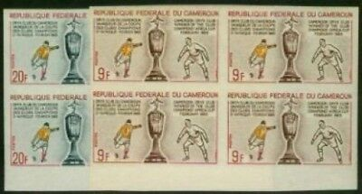 Cameroun 1965 Soccer set imperf margin blocks of four