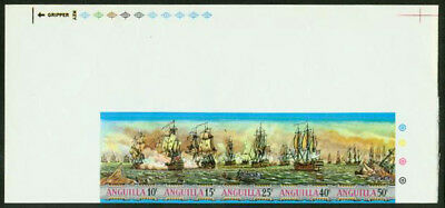 Anguilla 1971 Sea Battles imperf proofs strip of five-1