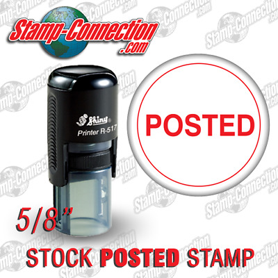 Shiny 517R Self-Inking POSTED Stamp (RED)