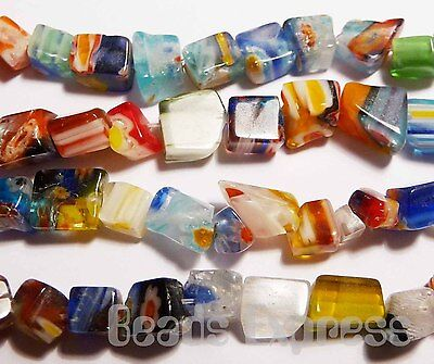 20g (~130pc) Mixed Colour Millefiori Glass Chip Beads 4-7mm (DM02)