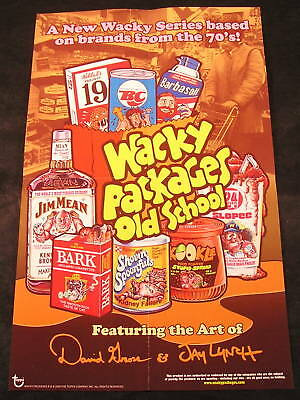 "2010 Topps Wacky Packages OLD SCHOOL Series 1 POSTER 10.5"" x 17"" nm"