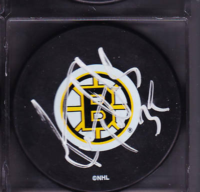 Manny Fernandez Boston Bruins Auto Signed Puck
