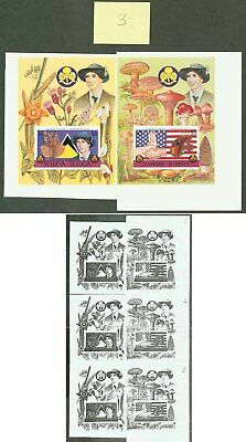 St. Lucia/St. Vincent 1986 Girl Guides SSs PROOF PAIR
