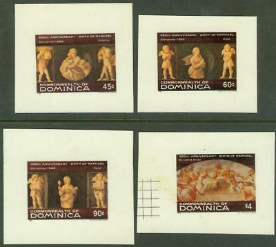 Dominica 1983 Raphael Christmas glossy MASTER PROOFS