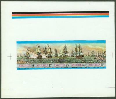 Anguilla 1971 West Indies Sea Battles MASTER PROOF