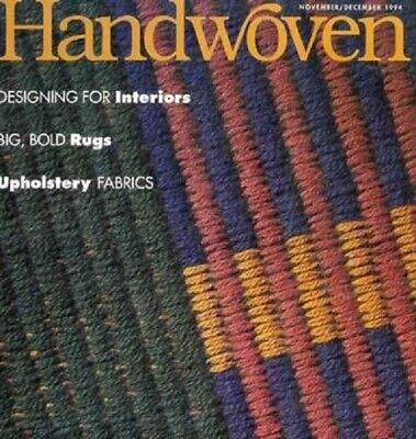 Handwoven magazine nov/dec 1994:UPHOLSTERY rugs curtain