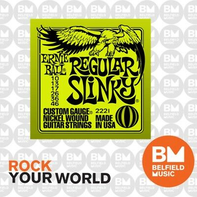 Ernie Ball 2221 Electric Guitar Strings Slinky Regular 10-46 .010-.046