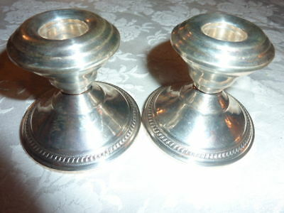 Antique N.S. Co. Sterling Silver Candle Holder x 2 set
