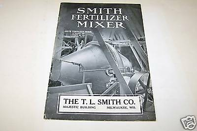 1910s SMITH FERTILIZER MIXER catalog Milwaukee WI