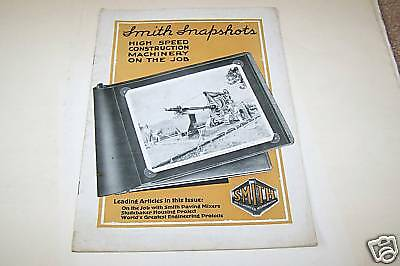1910s SMITH CONSTRUCTION MACHINE catalog Milwaukee WI
