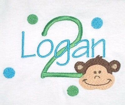 Personalized MONKEY Face Just Name or Birthday Age with Number T Shirt