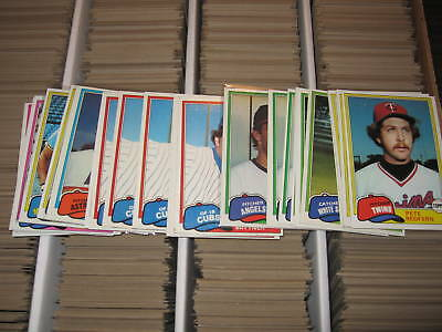 (10) 1981 Topps Lot - YOU PICK - FINISH YOUR SET - NMMT
