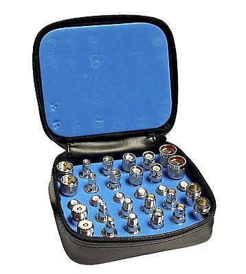 High Quality 30 Piece RF Connector Unidapt Nickle Finish Adapter Kit