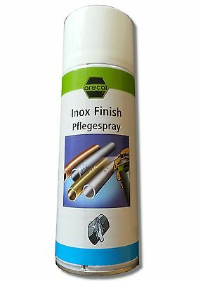 (28,75€/L) 2x INOX Finish arecal Edelstahlpflegespray je 400ml (SET18)