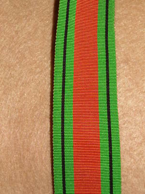 """6"""" of SILK issue WW2 Defence Medal Ribbon"""