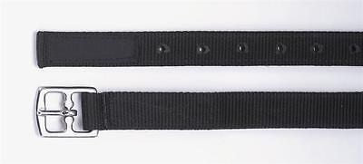 pair of Shires hi-lite synthetic stirrup 'leathers' webbing black