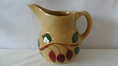 Watt Pottery Teardrop Red Bud No. 15 Pouring Pitcher #A3604
