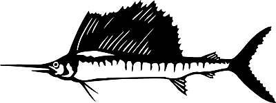 Large Marlin Sticker Decal,boat,fishing,4Wd