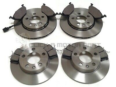 VOLKSWAGEN POLO 2002-2009 MOST MODELS FRONT /& REAR BRAKE DISCS /& PADS NOT DRUMS