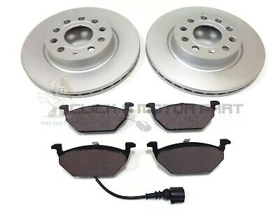 VW GOLF MK5 1.9 TDi SDi 2004-2009 FRONT 2 BRAKE DISCS & PADS SET CHECK SIZE