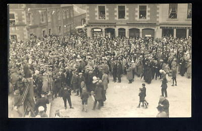 Scotland SELKIRK Common Riding 1920 Busy scene RP PPC