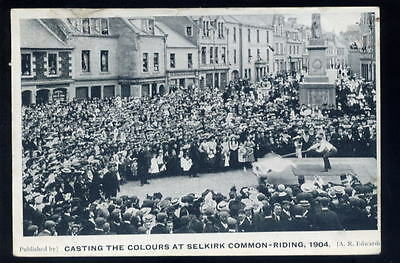 Scotland SELKIRK Common Riding Casting the Colours PPC
