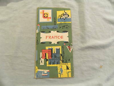 1959 Shell Road Map - France