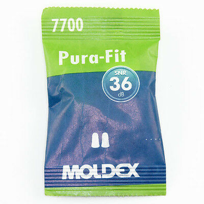 20 Pairs of Moldex Pura Fit 7700 Ear Plugs (FREE UK P&P)
