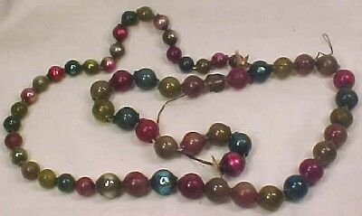 Vintage GLASS GARLAND CHRISTMAS CHAIN OF BEADS 3 ft WOW