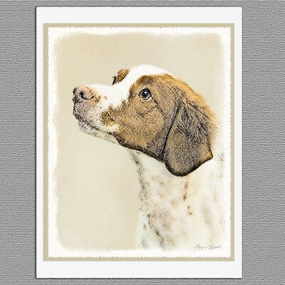 6 Brittany Spaniel Dog Blank Art Note Greeting Cards