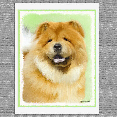 6 Chow Chow Dog Blank Art Note Greeting Cards