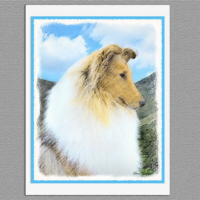 6 Collie Dog Blank Note Greeting Cards