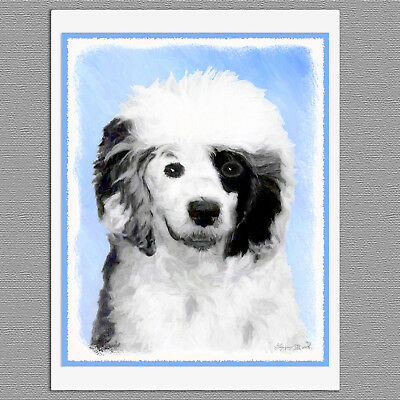 6 Portuguese Water Dog Blank Art Note Greeting Cards