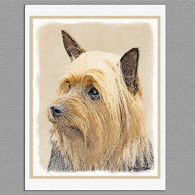 6 Silky Terrier Australian Dog Blank Art Note Greeting Cards
