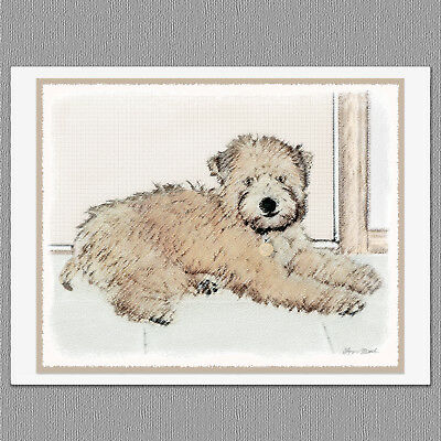 6 Soft Coated Wheaten Terrier Blank Art Note Greeting Cards