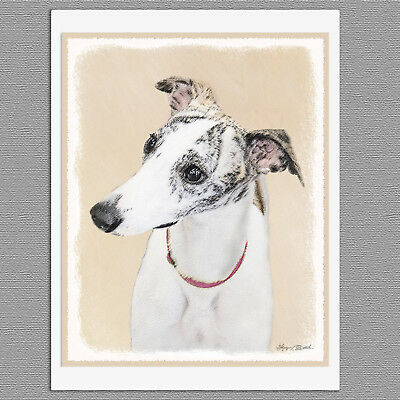 6 Whippet Dog Blank Art Note Greeting Cards