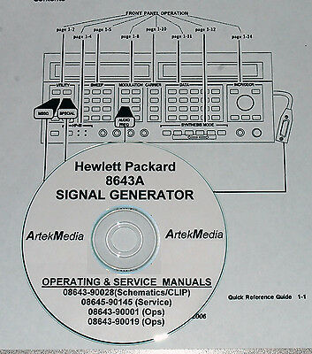 HP  8643A CLIP Manual Set (GOOD SCHEMATICS- 4 Volumes)