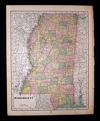 1889 CRAMS. Mississippi MS, Jackson, Clinton, Gulfport.