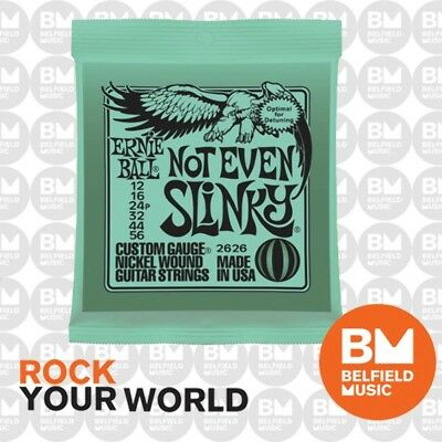10 x Ernie Ball 2626 Electric Guitar Strings Slinky Not Even 12-56 .012-.056