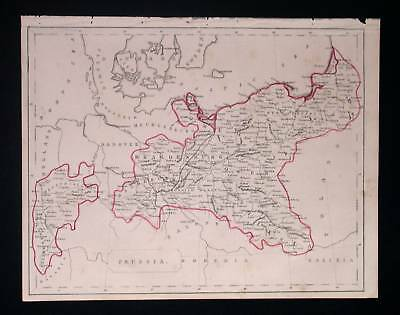 1844. BECKER. Prussia, Silesia, Germany, Magdeburg...