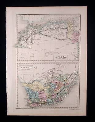 1851. BLACK - HALL. 2 x Africa North & South, Algeria..