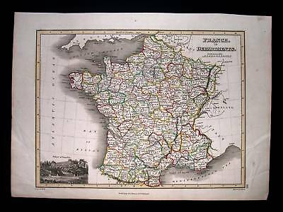 1815. THOMSON. France in Departments, Loire, Biscay...