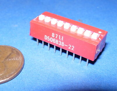 DIP SWITCH 10-Position 4-435640-1 AMP NOS
